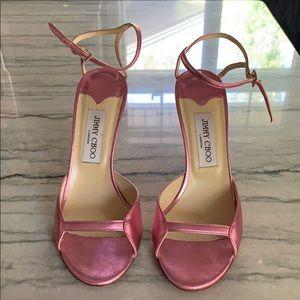 Jimmy Choo Pink Sandal Heels Size 39